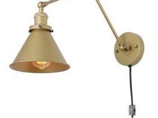 Carbon loft Merida Champagne Swing Arm lighting Plug in Wall lamp   19 7  X 7 5  X 9 1  Retail 106 49