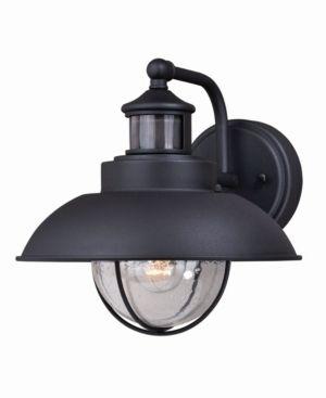 Harwich Black Motion Sensor Dusk to Dawn Coastal Outdoor Wall light   10 in W x 10 in H x 12 in D Retail 178 00