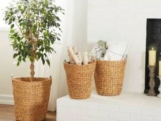 The Curated Nomad Biltmore 3 piece Tall Seagrass Basket Set Retail 76 29