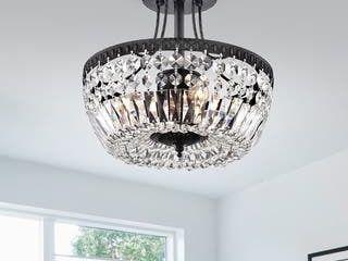 Achenar Crystal 3 light Semi Flush Mount Retail 124 99