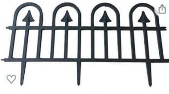 Recycled Plastic Decorative Gothic arch fence