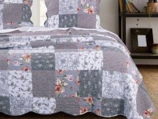 The Gray Barn Spring Arrow Reversible Gray Cotton Quilt Set Retail 77 48