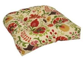 19 inch U Shaped Spun Polyester Outdoor Tufted Dining Chair Cushion