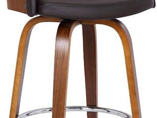 Alec ContemporaryaSwivel Barstool in a Wood Finish and Faux leather Retail 159 99