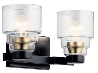 Kichler lighting Vionnet 2 light Vanity light Black Retail 139 99