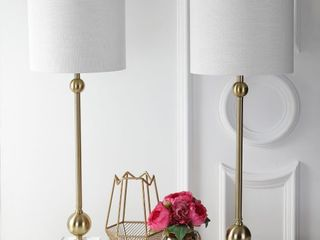 Hollis 34  Metal lED Table lamp  Brass with Crystal Base  Set of 2  by JONATHAN Y Retail 165 00