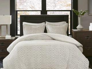 Madison Park Aurora Extra Warm Ultra Plush Down Alternative Comforter Set  Ivory  Cal King  Retail 125 49