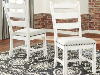 Valebeck Farmhouse ladder Back Chair   Set of Two   White  Retail 212 49