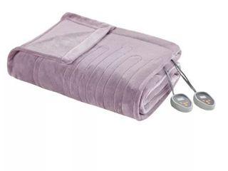 Beautyrest Heated Plush Blanket  lavender  Retail 89 66