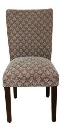 Set of 2 Parsons Pattern Dining Chair Wood  HomePop