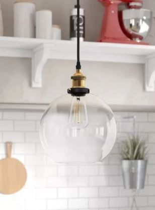 Jl Styles Inc Globe Glass Pendant light  Retail 79 98