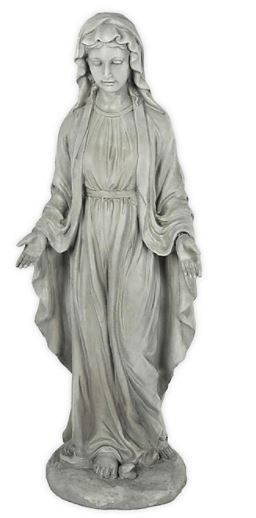 Virgin Mary Outdoor Garden Statue  Chipped at Base    Retail 82 99