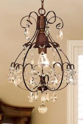 Copper Grove lutea Brushed Oak 1 light Teardrop Chandelier  Retail 98 99