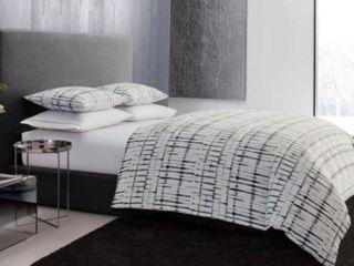 Vera Wang Shibori Grid Duvet Cover Queen Set  Retail 112 48