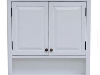Porch  amp  Den Everest Over the Toilet Space Saver Upper Cabinet and Open Shelf  Retail 227 99