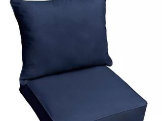 Sunbrella Canvas Outdoor Chair Seat With Seat Back Cushion 23 x23  Canvas Navy
