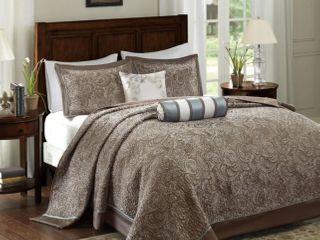 Madison Park Whitman Blue Jacquard Bedspread King Set  Retail 111 09