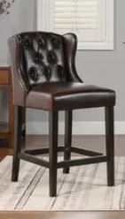 Copper Grove Gordon Wingback leather Tufted Counter Height Bar Stool  Retail 363 99