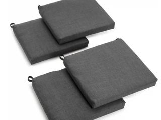 Blazing Needles 20 inch Indoor Outdoor Chair Cushions  Cool Grey  Set of 4  Retail 86 49