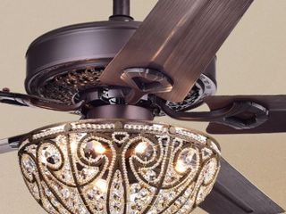 Catalina Bronze 5 Blade 48  Crystal Ceiling Fan