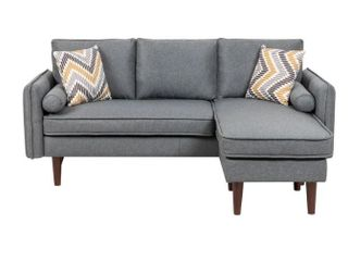 Mia Sectional Sofa Chaise with USB Charger  Tested And Working    Pillows  Retail 568 49