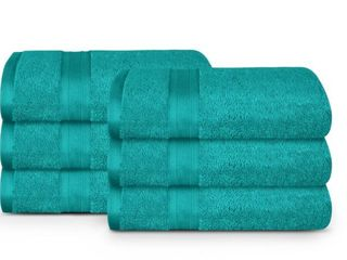 Feather Touch   Pure Cotton Towel Set  2 Sets of 6 Piece Wash Towels