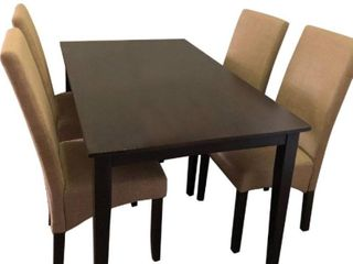 Table Only  Simple living Brentwood Parson Dining Table  Damage To The Side Board Under Table  See Pictures  Retail 536 99