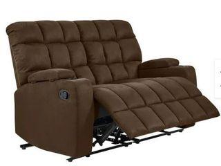 Copper Grove Bielefeld Brown Microfiber 2 seat Recliner loveseat  Retail 678 49