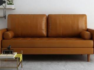 Dionne Faux leather Square Arm Sofa  Retail 422 99