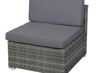 Siara Modern Rattan Wicker Modular Sectional Patio Set by Havenside Home  2 Chairs    Retail 679 99