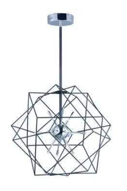 Rubic 33 5  Wide Steel Pendant  Retail 825 99