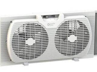Comfort Zone 9  Twin Window Fan with Reversible Airflow Control