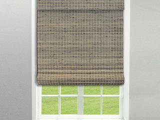 Radiance Cordless Driftwood Roman Shade  47 5  x 64