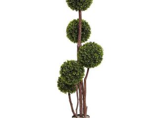 Nearly Natural UV Resistant Boxwood Five Ball Topiary  4  H  Retail 101 99