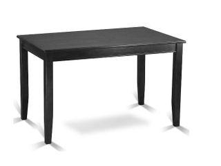 Buckland Counter Height Rectangular Table  Black Finish  Damaged  Retail 538 49
