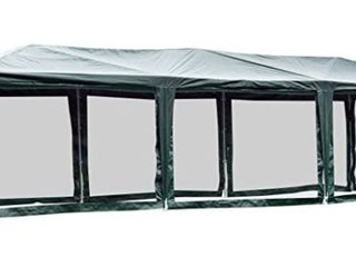 Cover Only  Outsunny 10  x 30  Gazebo Canopy Cover Tent with Removable Mesh Side Walls   Green  Retail 161 49