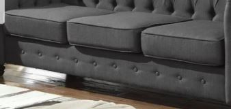 Incomplete Item  Best Master Furniture Tufted Upholstered Sofa Missing Backrest and Arms  Retail 697 49