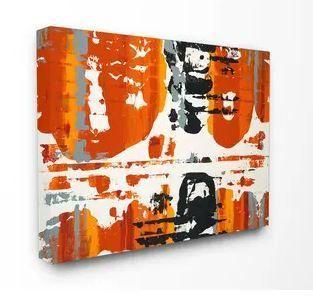 Burnt Orange Momentum Stretched Canvas Wall Art 24  x 30