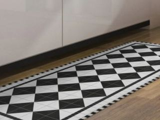American Art Decor Decorative Vinyl Floor Mat Mosaic   4 5  x 6 5    4 5  x 6 5