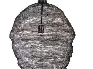 Jago 25 inch Black Mesh 1 light Pendant  Retail 82 99