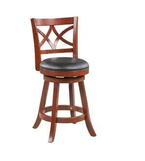Swivel Brown Wood Counter Bar Stool by Boraam Set of 2  Scuffs on Barstools  Retail 106 99