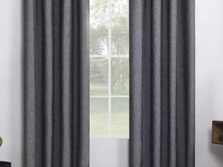 Sun Zero Total Blackout Grommet Top Curtains  2 Panels  96  x 52  Charcoal
