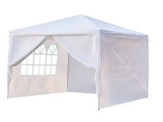 10x10ft Upgraded Outdoor Gazebos Wedding Party Canopy Tent 0 3 4 Sides