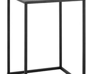 Open Box Side Table in Dark Concrete  16 inch