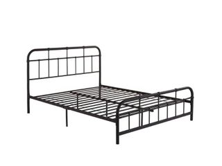 Berthoud Industrial Bed Frame by Christopher Knight Home  Queen  Retail 203 99