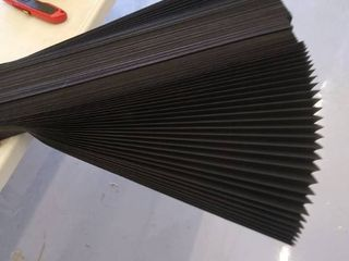 black paper pleated shades