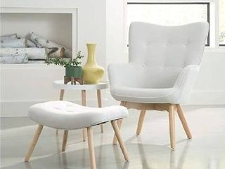 model 161 flc1 fabric lounge chair and ottoman