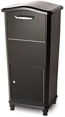 Architectural Mailboxes 6900B Elephantrunk Parcel Drop Box Black used