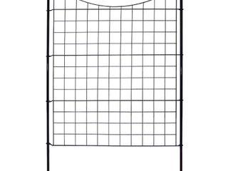 42in Semi Permanent Black Metal Garden Fence  5 Pack
