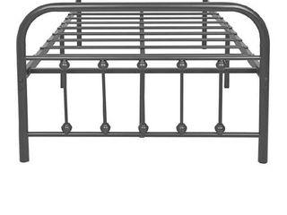 Twin speckled black grey metal bed frame